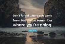 Don't Forget Where You Come from Quotes